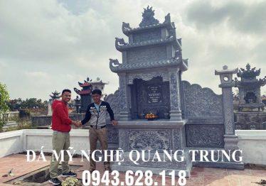 Khu Lăng mộ đá Nguyễn Duy bằng đá xanh tự nhiên đẹp