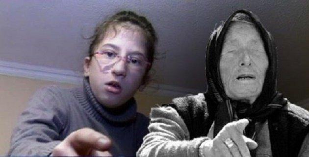 Kaede Uber (trái), bé gái người Pháp được cho là truyền nhân của nhà tiên tri mù Baba Vanga