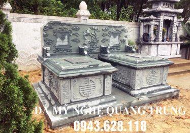 Lăng mộ đá đôi xanh rêu cao cấp Quang Trung