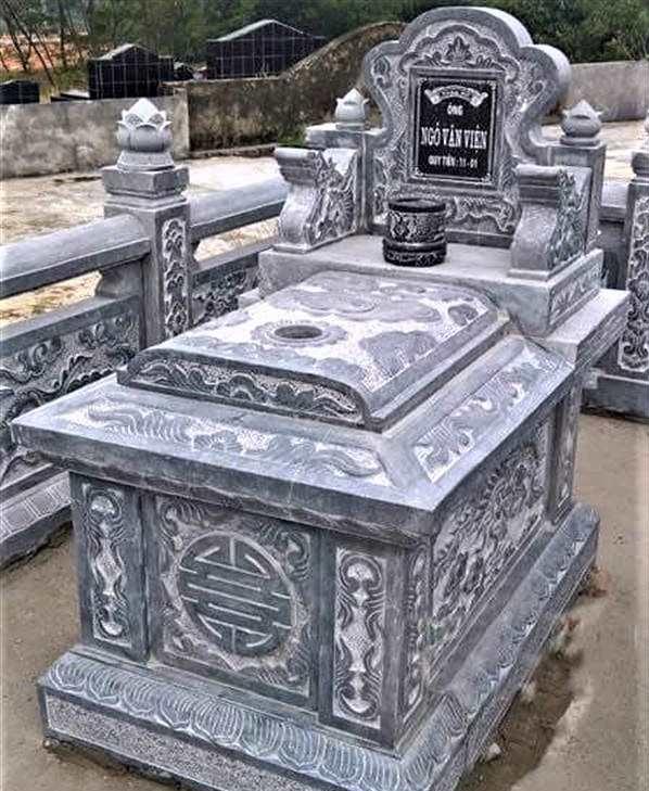 Mộ đá đẹp - Mẫu mộ đá đơn ĐẸP Quang Trung