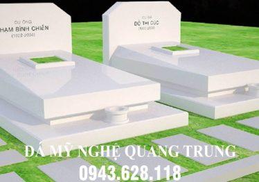Mẫu Mộ đá trắng cao cấp Quang Trung
