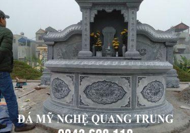 Lăng mộ đá tròn kiểu mới của Đá mỹ nghệ Quang Trung