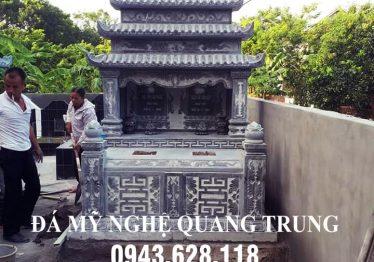 Làm mộ đá đôi đẹp cho gia đình Bác Trung ở Bắc Ninh