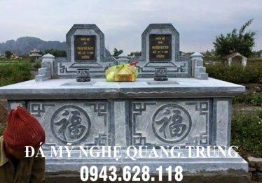 Mộ đá đôi cho hai cụ tại Nam Định