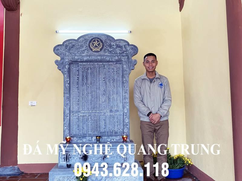 Nghe nhan Quang Trung lam Bia da tuong niem