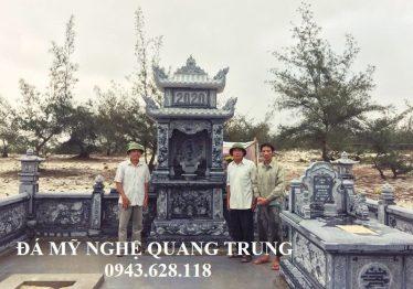 Lắp đặt Khu lăng mộ đá xanh rêu cho Anh Sỹ xã Cam Thủy, Lệ Thủy, Quảng Bình