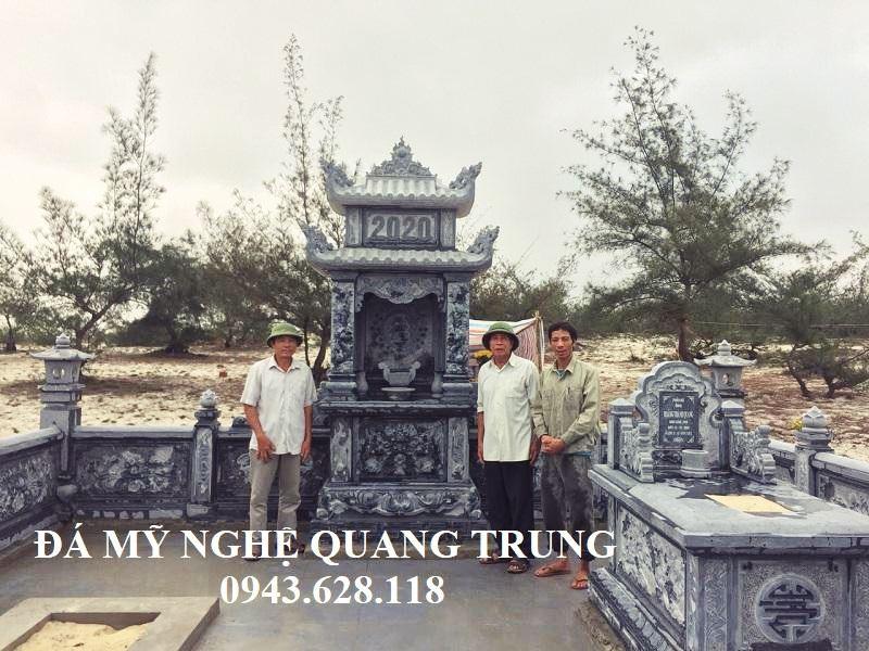 Khu Lang mo da Xanh reu - lang mo da dep Quang Trung