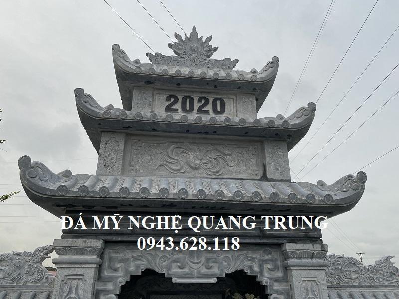 Chi tiet 3 mai cua Lang tho canh Lang mo Ho Vo
