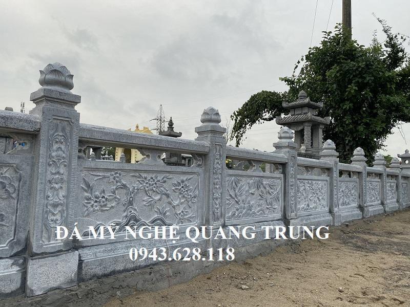 He thong Lan can da bam bat bao quanh khu Lang mo