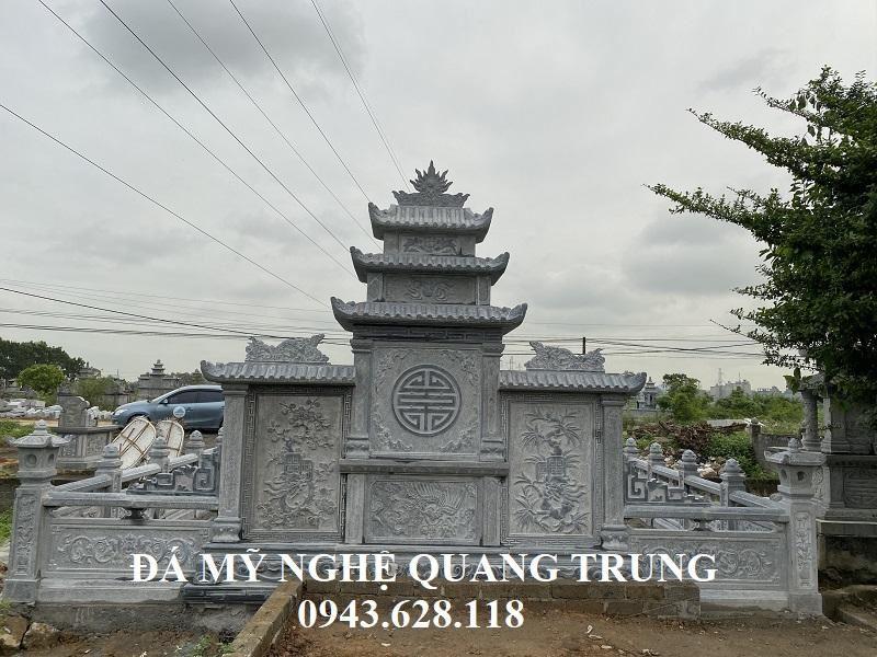 Hoa van phia sau Lang canh cua Lang mo