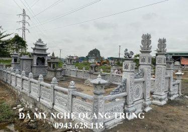 Khu Lăng mộ đá ĐẸP, băm bạt cao cấp Họ Võ tại Ninh Bình 8.17×15.7m