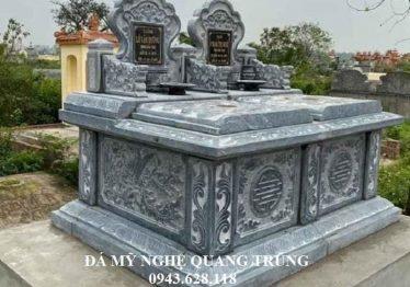 Mẫu Mộ đá đôi hai mái cao cấp Quang Trung năm 2020 – Mộ đá ĐẸP