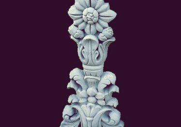 Mẫu Hoa văn phù điêu đầu cột đẹp14