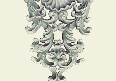 Mẫu Hoa văn phù điêu đầu cột đẹp18