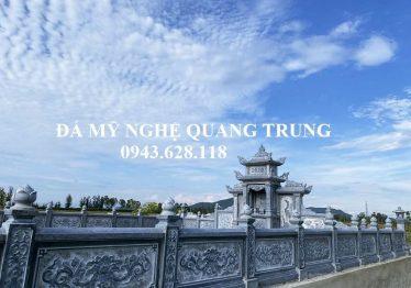 """Mẫu Lan Can Đá cao cấp bông """"Cúc Hóa"""" cho khu lăng mộ đá tại Nghệ An"""