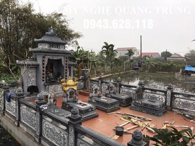 Khuon vien khu lang mo da xanh reu DEP-Da My Nghe Quang Trung 2020