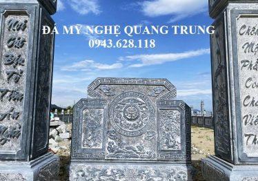 Mẫu Cuốn Thư (Bình phong đá) vuông đặc sắc của Khu Lăng Mộ tại Nghệ An