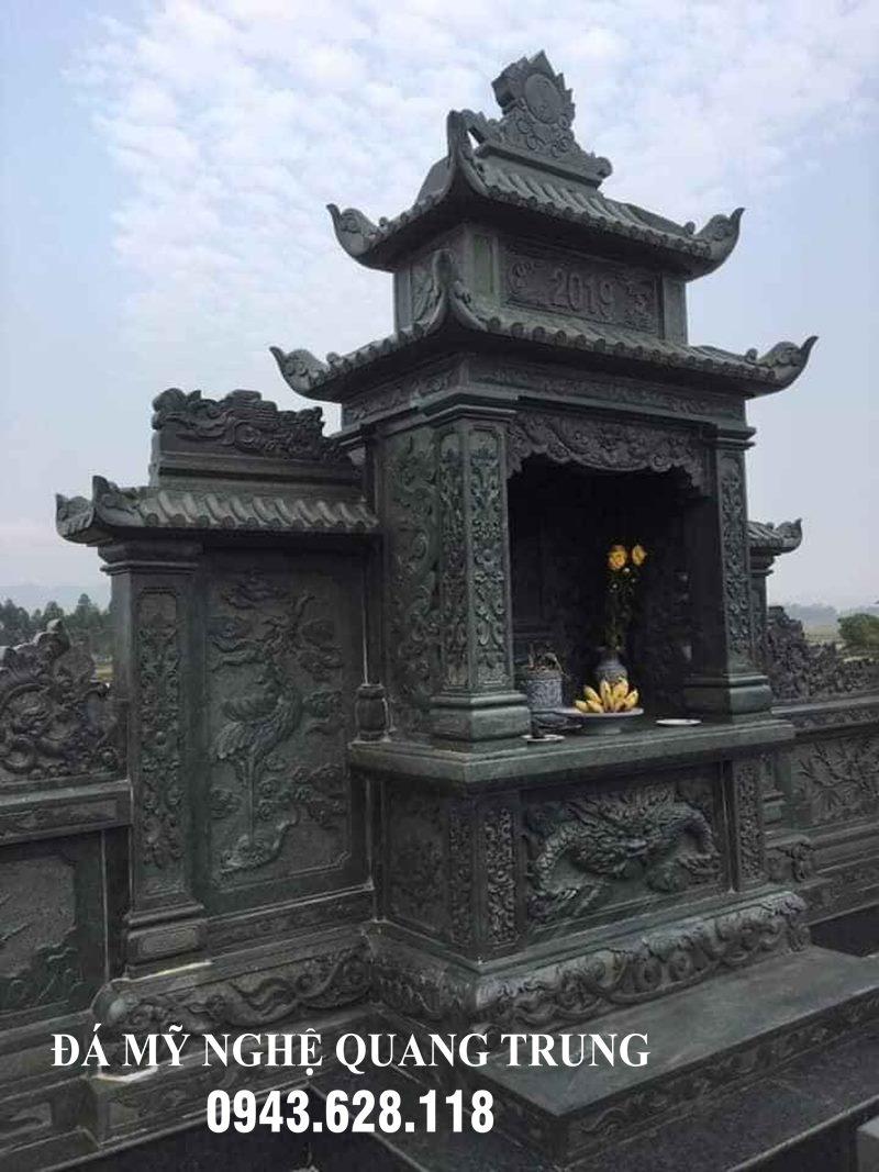 Mau Lang tho da canh da xanh reu cao cap - Lang mo da dep cua Da my nghe Quang Trung