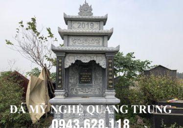 Mẫu Mộ Đá đẹp, Mộ Đá 3 mái cao cấp Đá Mỹ Nghệ Quang Trung Ninh Bình năm 2020