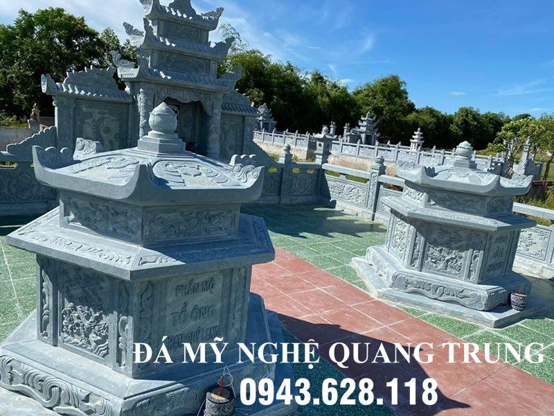 Mẫu Mộ đá Lục Giác đẹp cho Khu lăng mộ đá Quang Trung