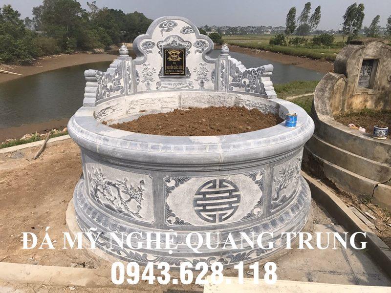 Mẫu Mộ Đá tròn đẹp Quang Trung