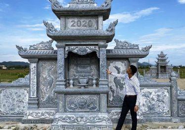 """Mẫu Lăng thờ đá """"Hạc – Rùa"""" cao cấp của Nghệ nhân trẻ Quang Trung cho Khu lăng mộ đá"""