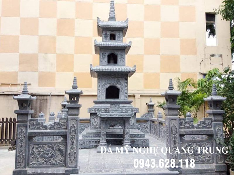 Xây Lăng mộ tháp đá (Lăng đá) đẹp Đá mỹ nghệ Quang Trung Ninh Vân, Hoa Lư, Ninh Bình