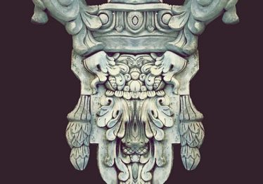 Mẫu Hoa văn phù điêu đầu cột đẹp36