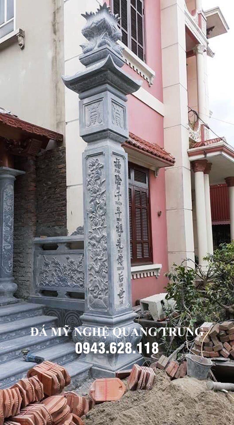 Đặt cột đồng trụ đẹp cho Nhà thờ họ (cột vách nhà thờ)