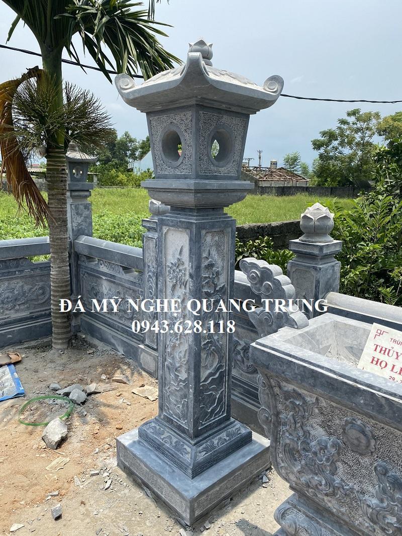 Cột đèn đá trang tri Quang Trung