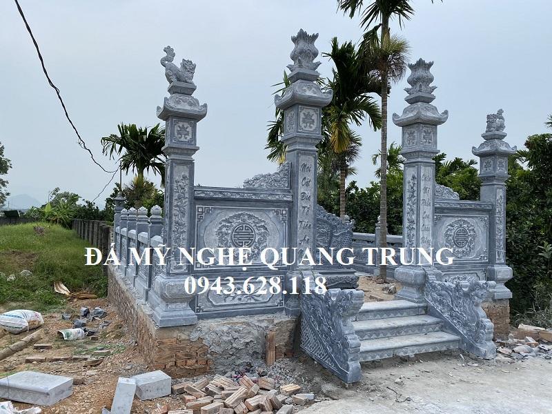 Khu Lang Mo Da xay dung bang da xanh tu nhien nguyen khoi