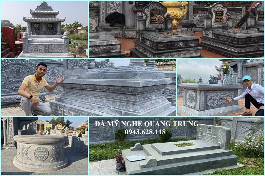 Đá mỹ nghệ Quang Trung tư vấn, xây Mộ đá đẹp, cao cấp hiện nay tại Việt Nam.