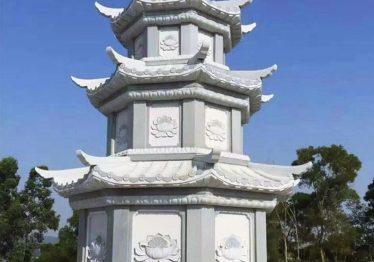 Xây dựng Bảo tháp đá – Mẫu Bảo tháp đá Hoa SEN đẹp Quang Trung
