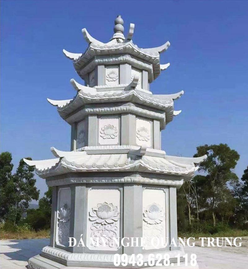 Mộ Tháp Đá - Mau Bao Thap da cao cap - Da xanh nguyen khoi