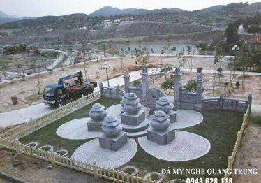 Xây Lăng thờ đá Hoa SEN đẹp (Lăng mộ đá Hoa SEN) cho Chư tăng, Thầy trụ trì