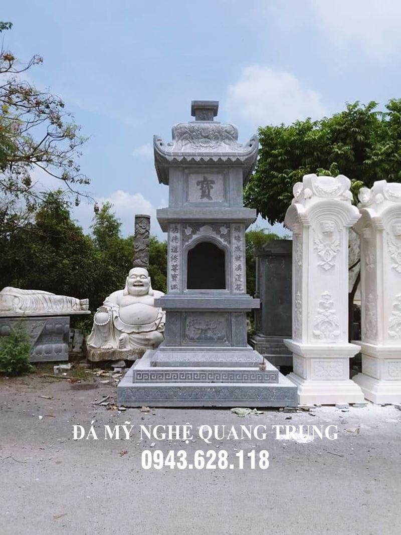 Mộ Tháp bằng Đá (Bảo tháp) cho Chư Tăng, Phật tử và các Thầy Trụ trì của các ngôi Chùa. Mẫu Mộ phổ biến nhất hiện nay.
