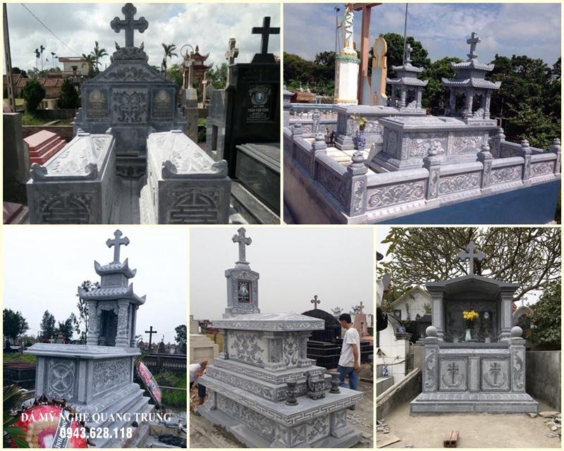 Xây Lăng mộ đá công giáo - Mộ đá Công giáo đẹp với các hoa văn, chi tiết đặc trưng của Đạo Thiên Chúa Giáo. Đá mỹ nghệ Quang Trung - Đơn vị thi công, xây dựng HÀNG ĐẦU tại Việt Nam hiện nay.