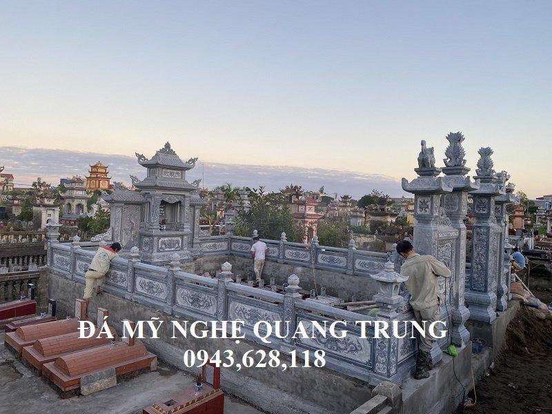 Day la mot trong nhung mau Lang tho da dep duoc thi cong xay dung tai Nam Dinh