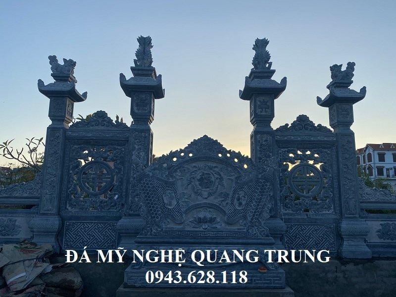 Diem nhan cua Khu lang mo voi Cong da tu tru va hai ben la hai Tam bung Lan can duoc tram khac thong phong rat dang cap