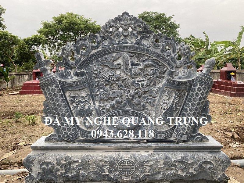 Hoa van Cuon thu da - Binh phong da Long cuon thuy