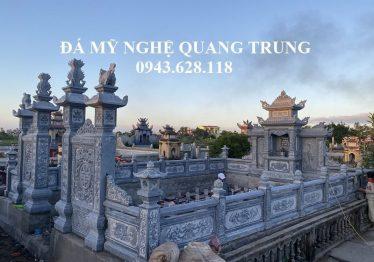 Xây dựng Khu Lăng mộ đá ĐẸP nhà Anh Đức tại Cổ Lễ, Nam Định – Diện tích rộng 6,65m x 9,83m