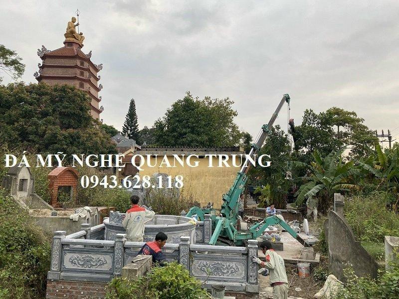 Khu Lang mo da tron dep Quang Trung xay dung