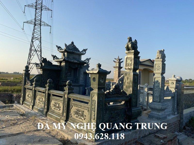 Khu Lang mo da xanh reu Granite Lăng mộ đá, Mộ đá Ninh Bình