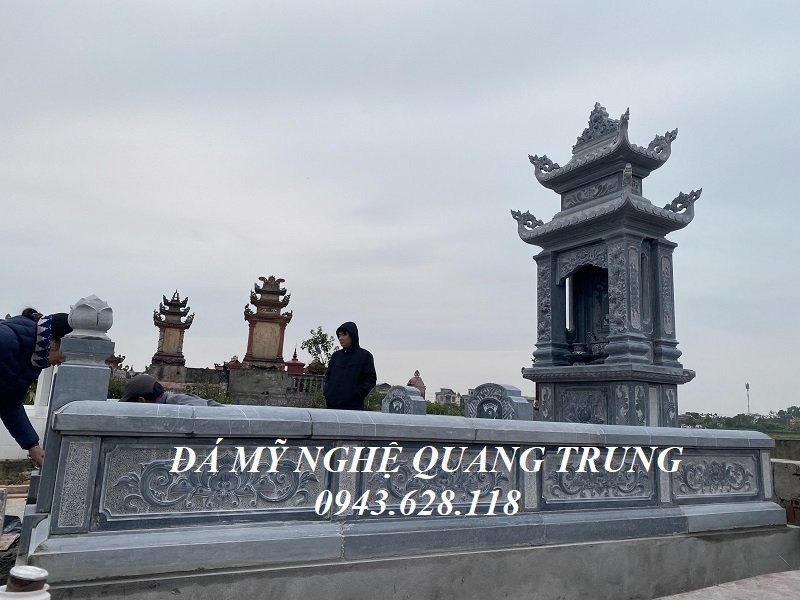 Lan can da cua Lang mo voi hoa van Bong SEN hoa dep