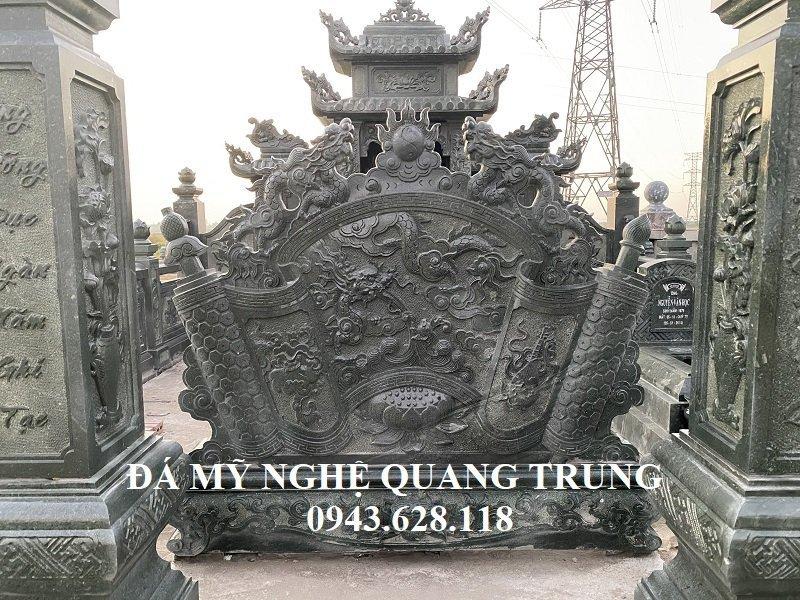 Mau Cuon thu da - Binh phong da Xanh reu