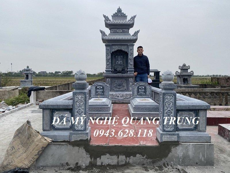 Xay dung Lang mo da dep cho Ong Ba tai tinh Thai Binh