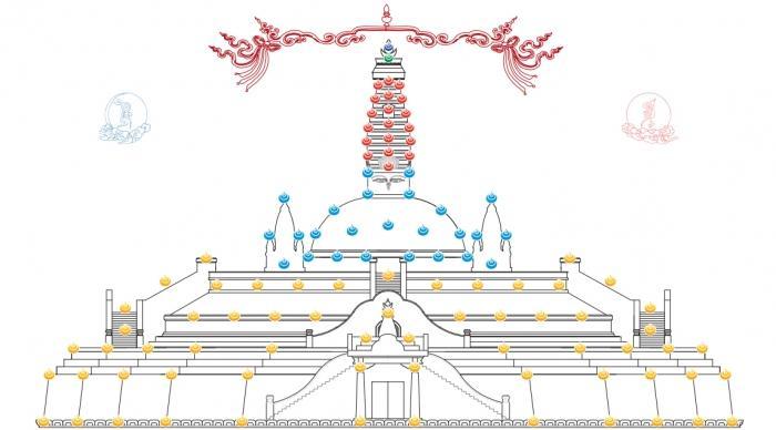 Bảo tháp đá đẹp - Thiết kế Mộ tháp đá đẹp