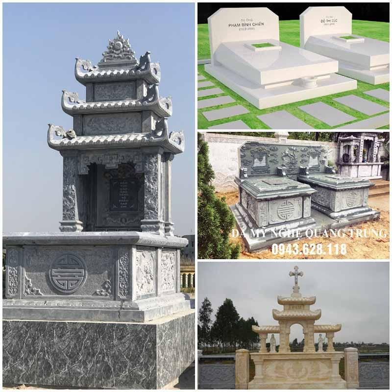 Mộ đá là hạng mục quan trọng nhất trong Khu Lăng mộ, được Đá mỹ nghệ Quang Trung tư vấn, lựa chọn kích thước, loại đá, chất liệu hoa văn phù hợp, phong thủy nhất.
