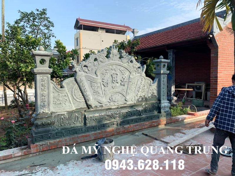 Binh phong da xanh reu Nha tho ho dep Ninh Binh