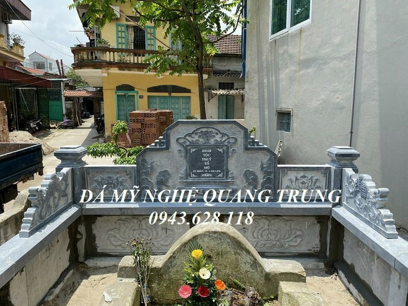 Lang mo da dep Quang Trung Ninh Binh cho Gia toc